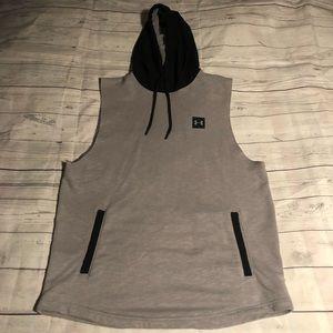 Men's Under Armour cut off hoodie
